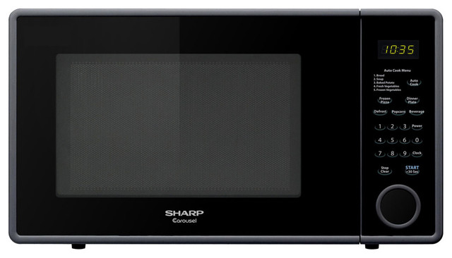 """1.1 Cu.Ft 1000W Touch Microwave, 11.25"""" Turntable modern-microwaves"""