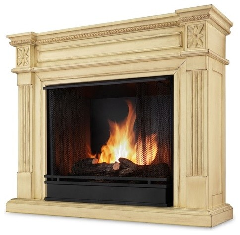 Elise ventless gel fuel fireplace modern indoor for Ventless fireplace modern