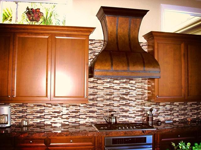 Rustic Range Hoods ~ Custom copper range hood rustic hoods and vents