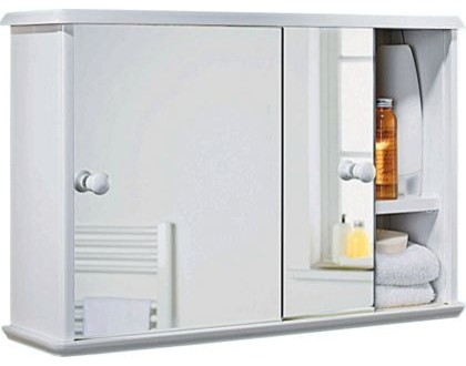 sliding door bathroom cabinet white modern medicine