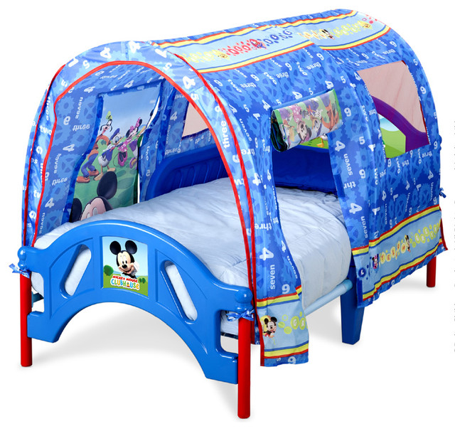 Safe Low Profile Mickey Mouse Canopy Toddler Children Bed