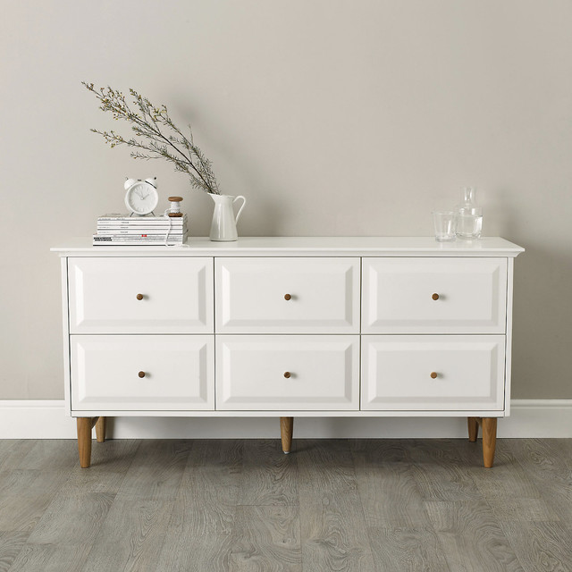 Devon 6 Drawer Chest Of Drawers Contemporary Chests Of Drawers