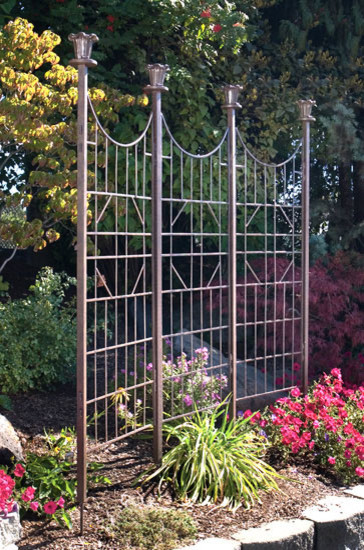 Three panel garden screen asian outdoor products