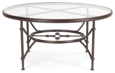 Caluco Origin 60 in. Round Dining Table traditional-outdoor-dining-tables
