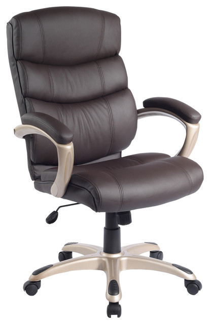 High-Back Executive Office Chair in Chocolate modern-office-chairs