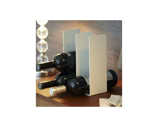 """""""Tower"""" White Metal Wine Rack, Accommodates 6 Bottles - This metal wine rack keeps your favorite wine always within reach."""