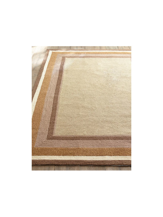 "Horchow - ""Desert Squares"" Outdoor Rug - With its concentric earth-tone blocks, this handmade rug adds the timeless appeal of the desert to outdoor living spaces—without the sand. Made of polypropylene/acrylic blend. Outdoor safe. Great for high traffic areas indoors. Sizes are approx..."