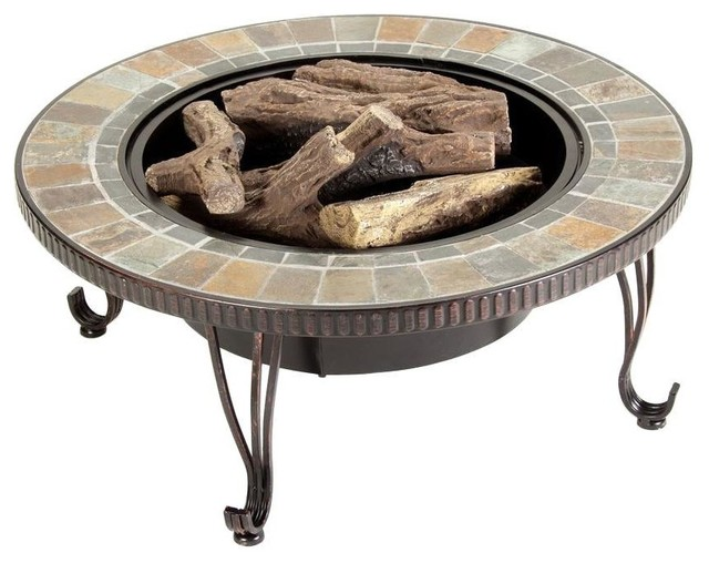 Duraflame outdoor fire pits illuma 36 in bio ethanol fire for Ethanol outdoor fire pit