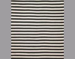 Draper Stripe Ink Rug eclectic-rugs