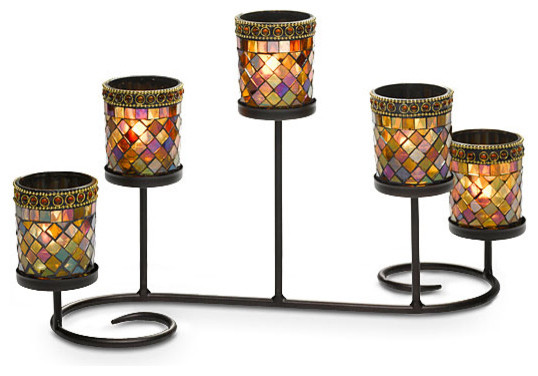 Mosaic candle holder modern