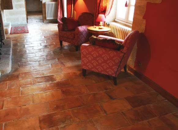 Antique Terracotta Flooring- Parefeuille Red Peach