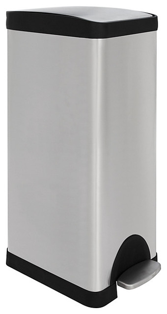 Slim stainless steel pedal bin 30l contemporary trash cans by john lewis - Slim garbage cans for kitchen ...