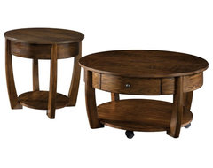 Hammary Concierge 2-Piece Round Coffee Table Set traditional-coffee-tables
