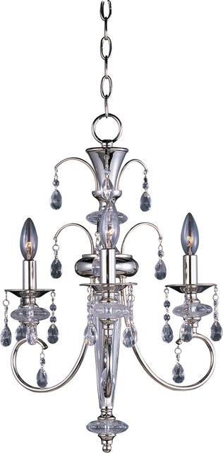 Maxim Lighting 24303ClPN Montgomery 3-Light Chandelier transitional-chandeliers