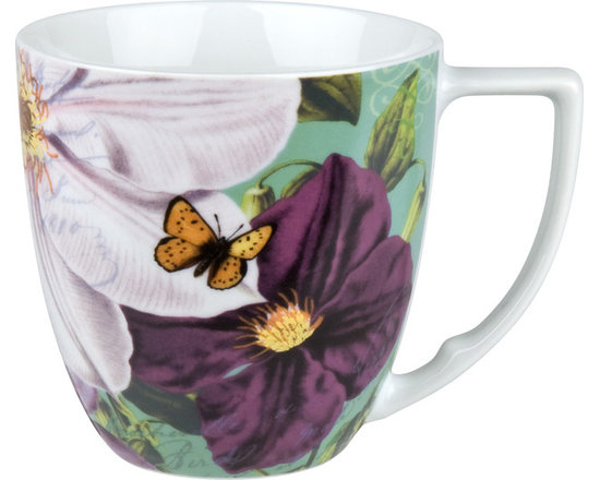 Waechtersbach - Impressions Set of 4 Mugs Impressions Clematis in White - Charming clematis and butterflies will start (or end) your day with a smile. Made from dishwasher-safe porcelain and blessed with a generous handle, this is a mug set worth reaching for.