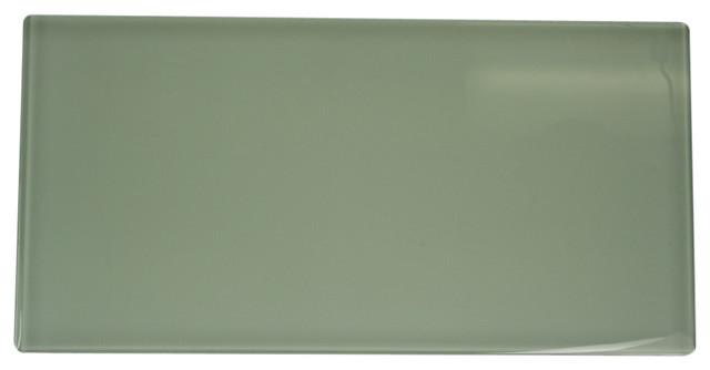 Laser Cut Zen Green Glass Tiles contemporary-tile
