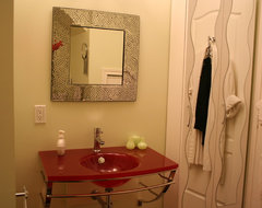Red vanity contemporary