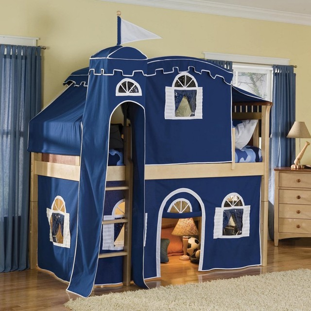 Bennington Deluxe Low Loft Tent Bed Modern Beds By