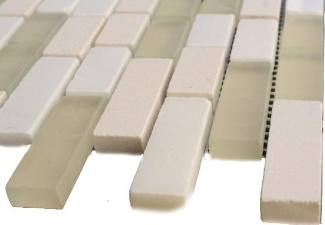 FUSION GOBI DESERT 1/2X2 GLASS & MARBLE MOSAIC TILES mosaic-tile