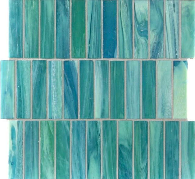 Azure Shimmer 1 Quot X 4 Quot Green Pool Glossy Glass