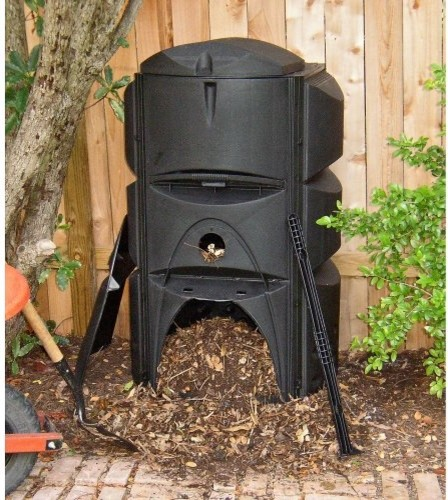 Exaco 123 Gallon Earthmaker Compost Bin contemporary outdoor products