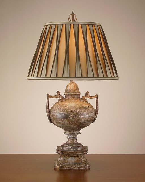 John Richard 31'' Ancient Olive Urn Lamp contemporary-table-lamps