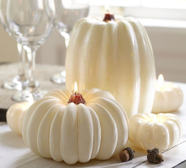 White Pumpkin Candle Candles By Pottery Barn