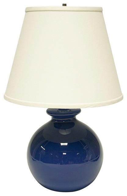 Coastal Haeger Potteries Blue Bristol Bottle Ceramic Table Lamp traditional-table-lamps