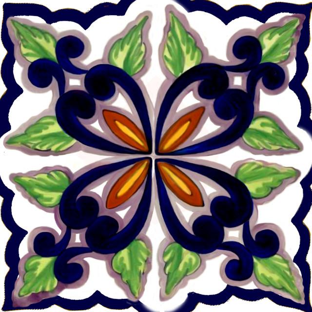 Pretty Point Back Splash Accent Tiles mediterranean-accent-trim-and-border-tile