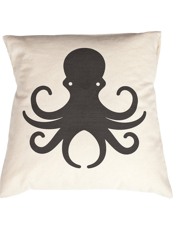 Jules Johnson Interiors Black Solid Octopus Pillow Cover