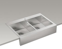 Vault apron-front sink modern kitchen sinks