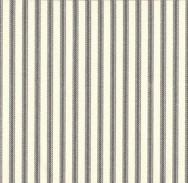 50W X 84L Shower Stall Curtain Brindle Gray Ticking Stripe traditional-shower-curtains