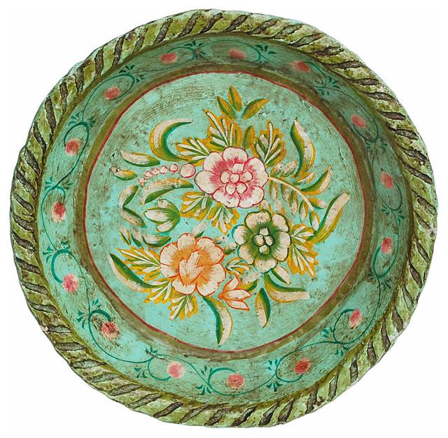 Mexican Folk Art Paper Mache Bowl - Mediterranean - Serveware - new york - by Second Shout Out