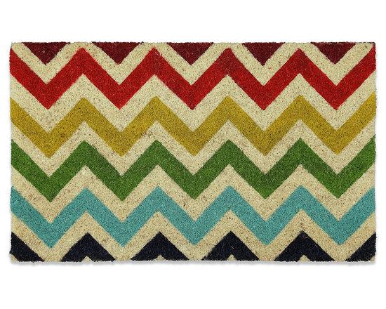 Mohawk Home Chevron Coir Doormat -
