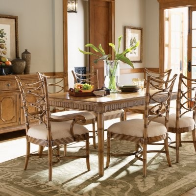 Tommy Bahama by Lexington Home Brands Beach House 7 pc. Boca Grande Dining Set modern-dining-tables