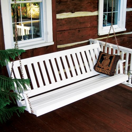 Traditional English Style Porch Swing traditional outdoor swingsets