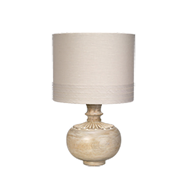 Jamie Young Co. Lotus Accent Lamp in Bleached Wood traditional-table-lamps