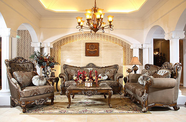 Antique Sofa Sets From Afd Beautiful Replicas For An Elegant Living Room Traditional