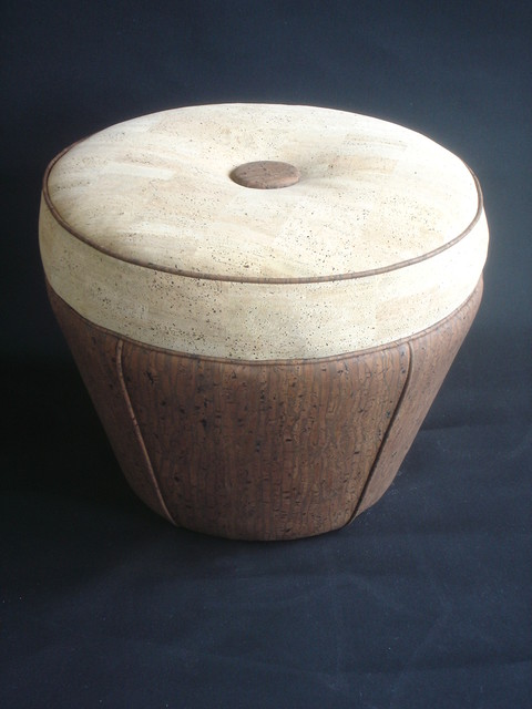 Cork Ottoman contemporary-footstools-and-ottomans