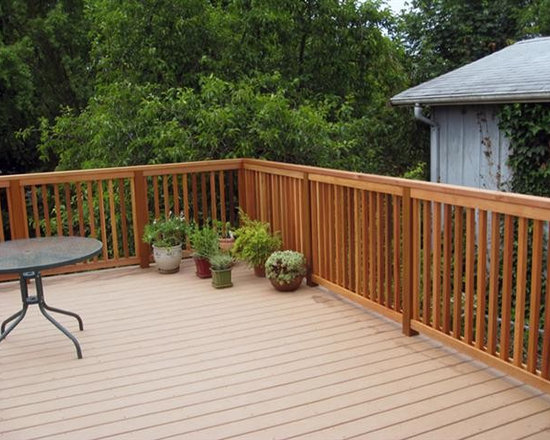 Composite Decking With Cedar Railing -