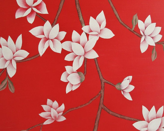 various projects and designs - tara magnolia small blossoms red project