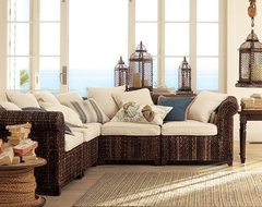 Seagrass Five-Piece Sectional tropical-sectional-sofas