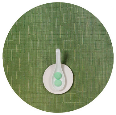 Chilewich Round Bamboo Placemat, Set of Four modern-placemats