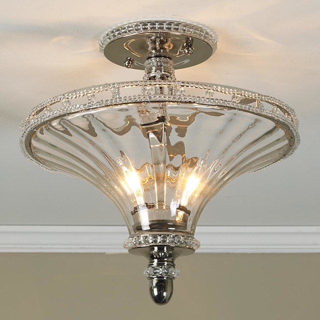 Ceiling Lights Glass Shades : Jeweled trumpet glass ceiling light by shades of