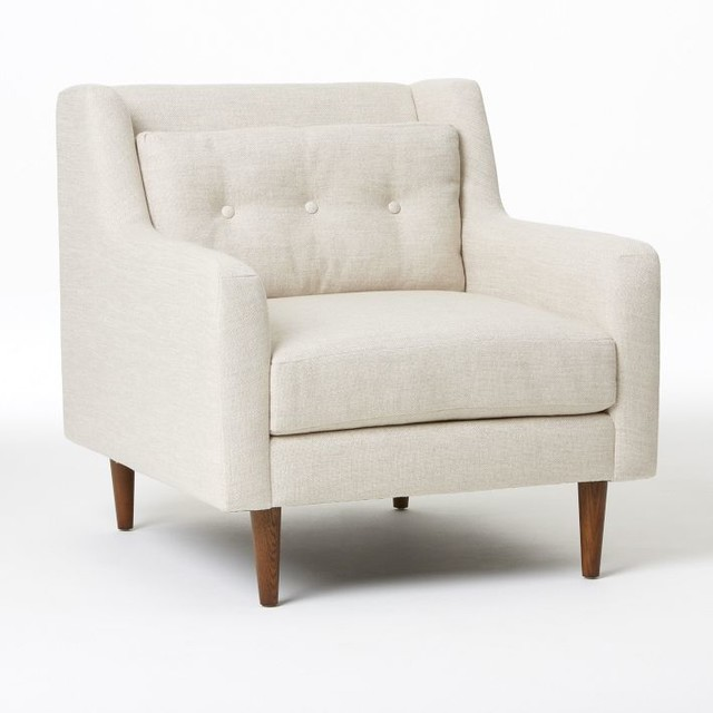 Crosby Armchair, Oatmeal Pebble Weave modern-armchairs-and-accent-chairs