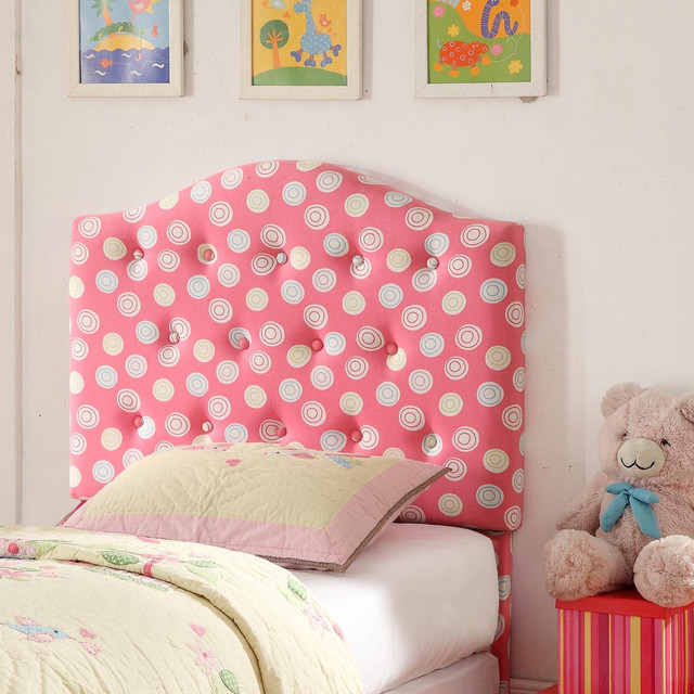 Twin Pink Tufted Headboard - Contemporary - Headboards - by Overstock ...