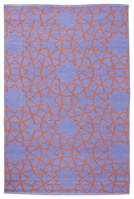 Fez Area Rug, Periwinkle/Rust contemporary-outdoor-rugs