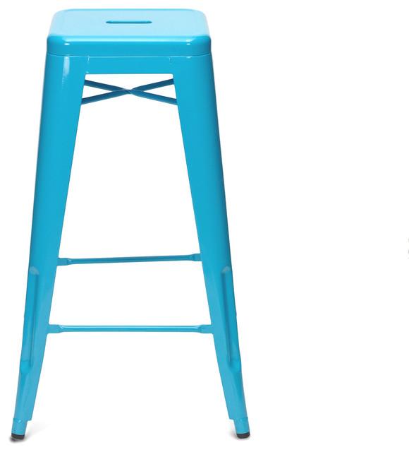 Xavier Pauchard 75cm Turquoise Stool Front modern-furniture