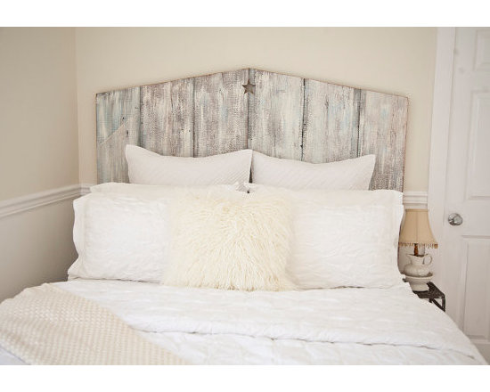 The Queen Tricia Reclaimed Barnwood Headboard by The Lake Nest -