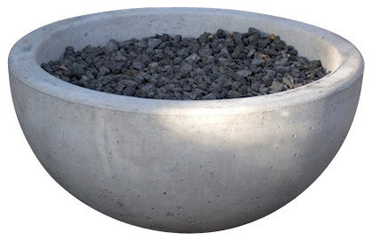 """Potted Deep Wok Fire Pit, 33"""" contemporary-fire-pits"""
